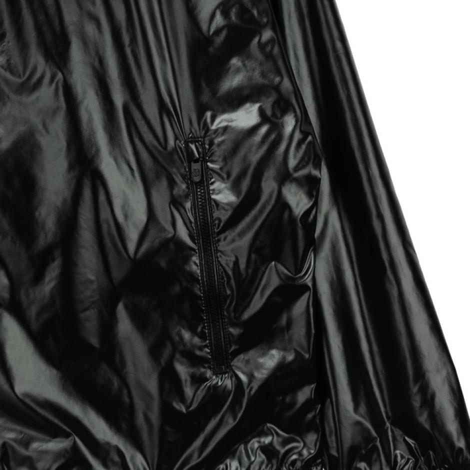 메탈소재 후디 방풍 자켓