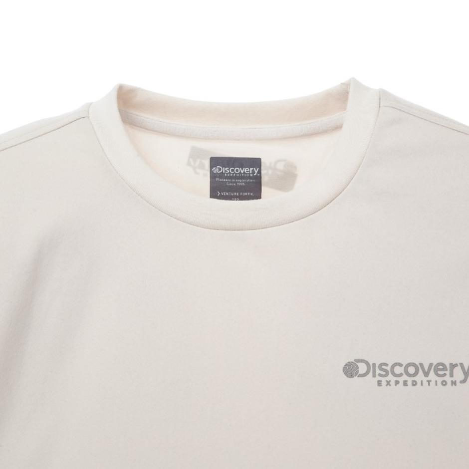 소매 그래픽 포인트 라운드 티셔츠