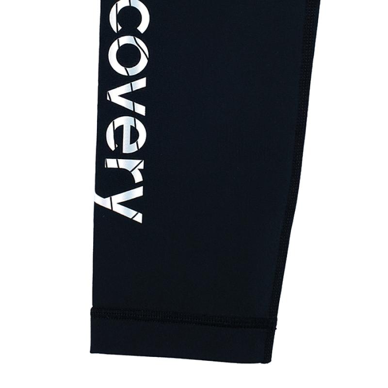 디스커버리 익스페디션(DISCOVERY EXPEDITION) 여성 기본 로고형 워터 레깅스-BLACK COLOR