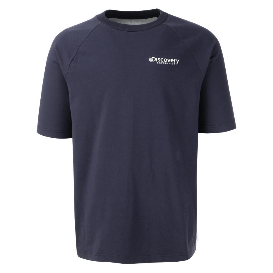 컬러블럭 라글란 라운드티셔츠