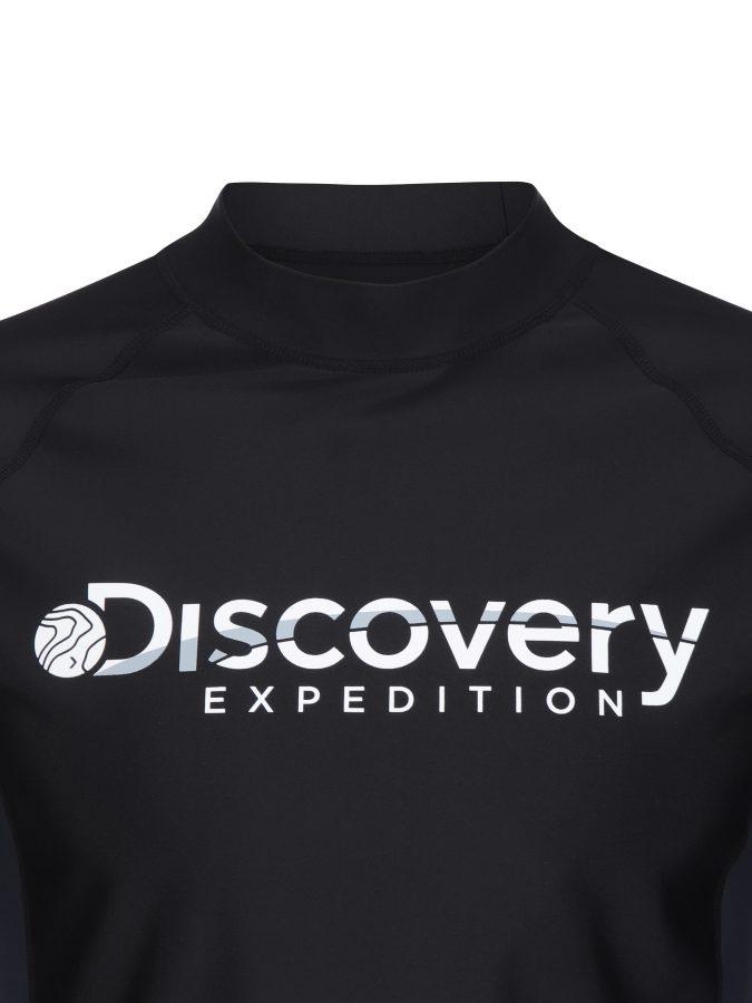 디스커버리 익스페디션(DISCOVERY EXPEDITION) 베이직 남성 로고 래쉬가드 (G/BLACK)