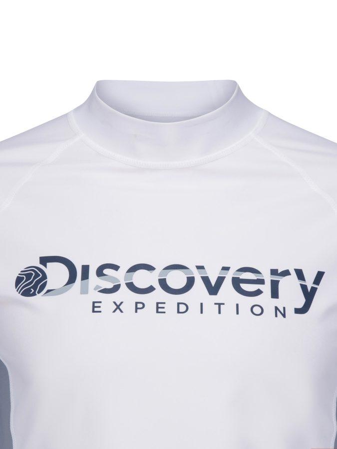 디스커버리 익스페디션(DISCOVERY EXPEDITION) 베이직 남성 로고 래쉬가드 (O/WHITE)