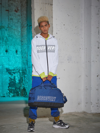 [남성]로고 컬러블럭 방풍자켓