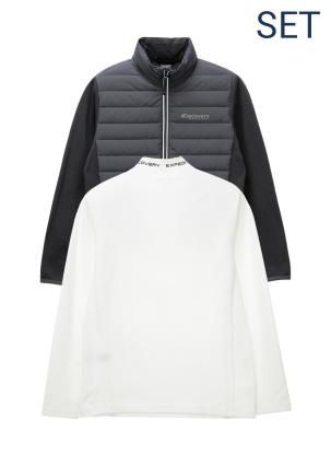 [남성]루턴리 튜브다운자켓+기모 베이스 레이어 티셔츠