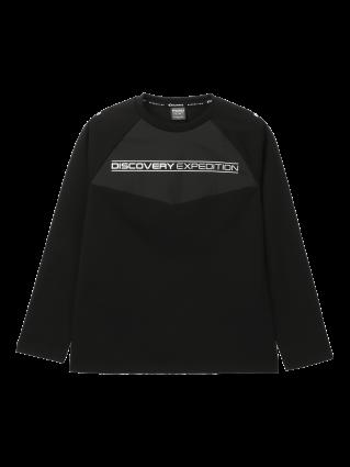 [남성]래글런 블럭형 라운드 티셔츠