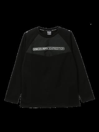 [여성]래글런 블럭형 라운드 티셔츠