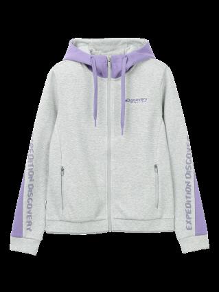 [여성]멜란 배색 트레이닝 자켓