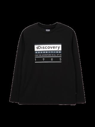 [공용]박스형 로고 라운드 티셔츠