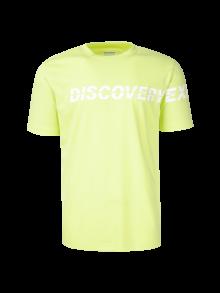 [공용]로고 스트라이프 변형 라운드 티셔츠